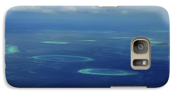 Galaxy Case featuring the photograph Aerial View Of Maldivian Coral Formations by Jenny Rainbow