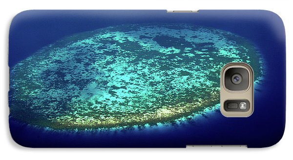 Galaxy Case featuring the photograph Aerial View Of Rounded Coral Reef. Maldives by Jenny Rainbow
