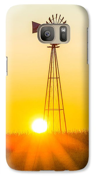 Galaxy Case featuring the photograph Aermotor Sunset Vertical by Chris Bordeleau
