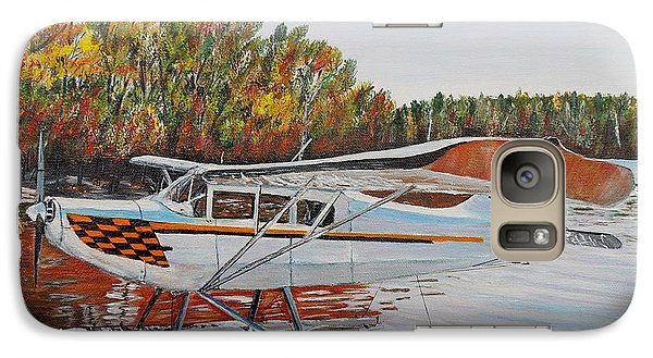 Galaxy Case featuring the painting Aeronca Super Chief 0290 by Marilyn  McNish