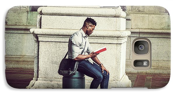 African American College Student Studying In New York Galaxy S7 Case