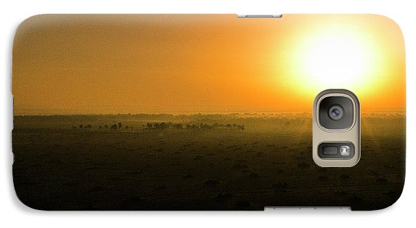 Galaxy Case featuring the photograph African Balloon Sunrise by Karen Lewis