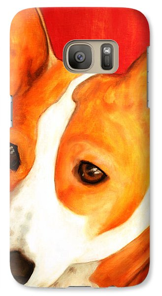 Galaxy Case featuring the painting African Basenji - Kia by Laura  Grisham