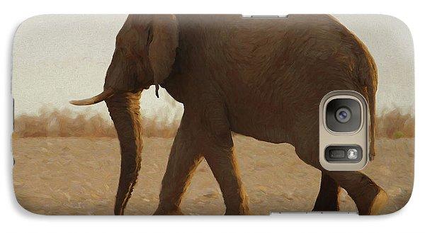 Galaxy Case featuring the digital art African Elephant Walk by Ernie Echols