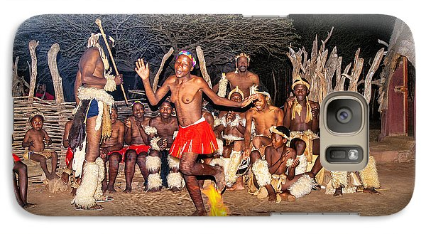 Galaxy Case featuring the photograph African Fire Dance by Rick Bragan