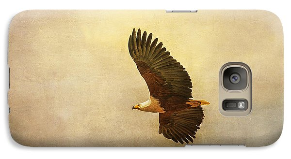 Galaxy Case featuring the tapestry - textile African Fish Eagle by Kathy Adams Clark
