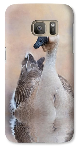 Galaxy Case featuring the photograph African Goose by Robin-Lee Vieira