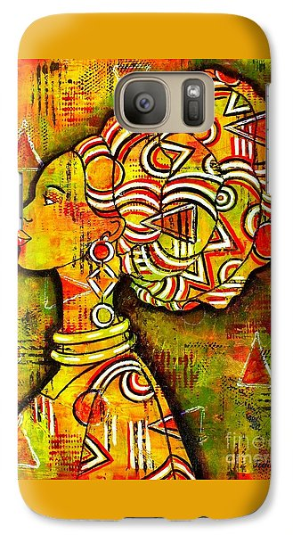 Galaxy Case featuring the painting African Queen by Julie Hoyle