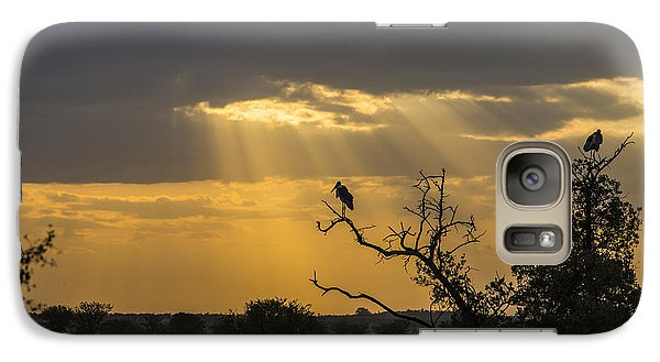 Galaxy Case featuring the tapestry - textile African Sunset 2 by Kathy Adams Clark