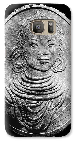 Galaxy Case featuring the relief African Turkana Woman by Suhas Tavkar