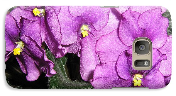 Galaxy Case featuring the photograph African Violets by Barbara Yearty