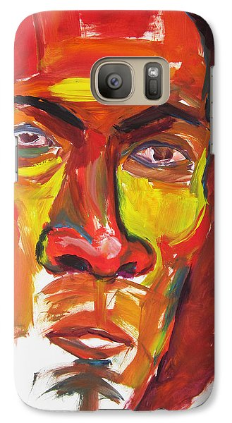 Galaxy Case featuring the painting Afro by Shungaboy X