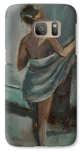 Galaxy Case featuring the painting After The Bath by Jennifer Beaudet