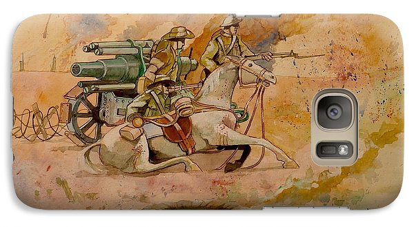 Galaxy Case featuring the painting After The Charge by Ray Agius