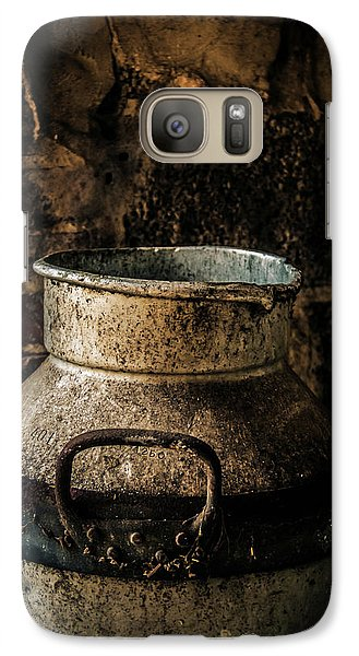 Galaxy Case featuring the photograph After The Cows Have Gone by Odd Jeppesen