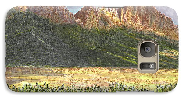 Galaxy Case featuring the painting After The Monsoon Organ Mountains by Jack Pumphrey