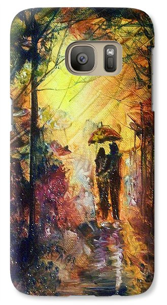 Galaxy Case featuring the painting After The Rain by Raymond Doward
