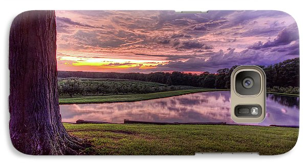 Galaxy Case featuring the photograph After The Storm At Mapleside Farms by Brent Durken