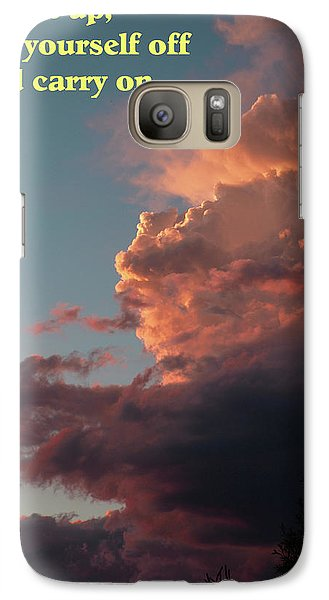 Galaxy Case featuring the photograph After The Storm Carry On by DeeLon Merritt