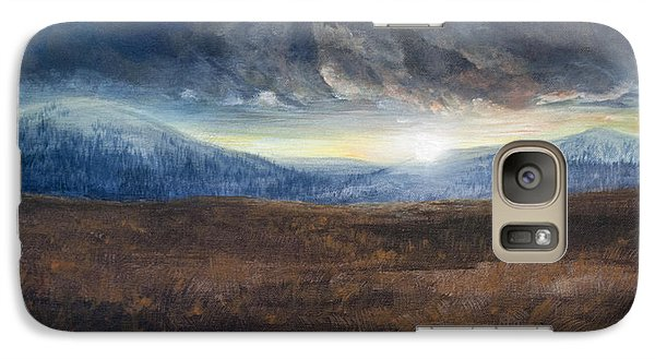Galaxy Case featuring the painting After The Storm - Cool Tone by Jessica Tookey