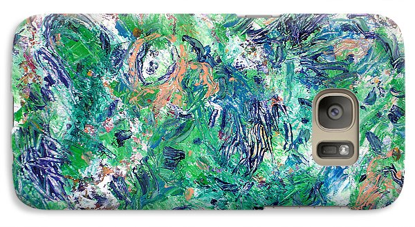 Galaxy Case featuring the painting After The Storm by Lynda Lehmann