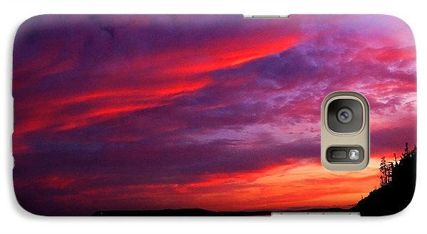 Galaxy Case featuring the photograph After The Storm Sunset by Alana Ranney