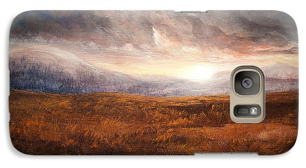 Galaxy Case featuring the painting After The Storm - Warm Tones by Jessica Tookey
