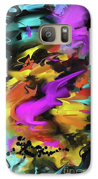 Galaxy Case featuring the painting After Work by S G