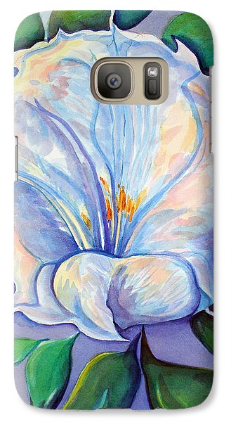 Galaxy Case featuring the painting Afterglow by Lynda Lehmann