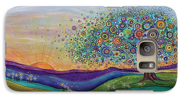 Galaxy Case featuring the painting Afterglow - This Beautiful Life by Tanielle Childers