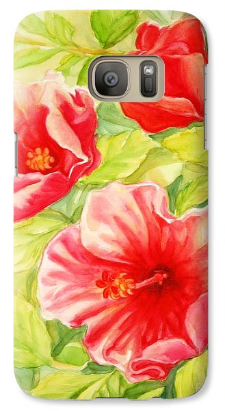 Galaxy Case featuring the painting Afternoon Hibiscus by Inese Poga