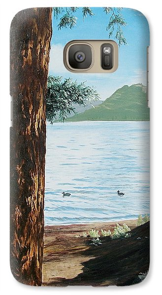 Galaxy Case featuring the painting Afternoon Invitation by Bonnie Heather