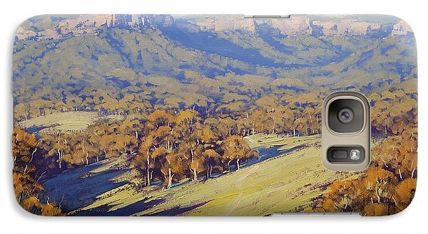 Realistic Galaxy S7 Case - Afternoon Light Megalong Valle by Graham Gercken