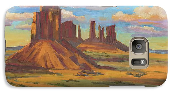 Galaxy Case featuring the painting Afternoon Light Monument Valley by Diane McClary