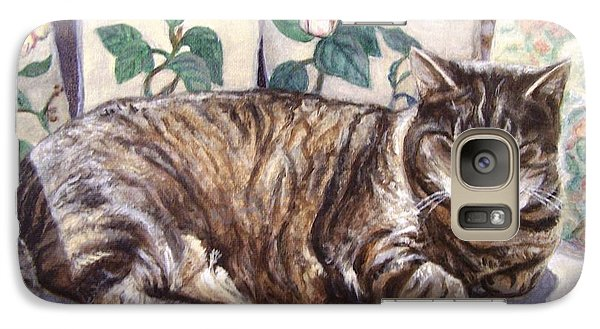 Galaxy Case featuring the painting Afternoon Nap by Laura Aceto