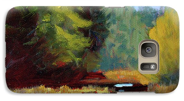 Galaxy S7 Case featuring the painting Afternoon On The River by Nancy Merkle