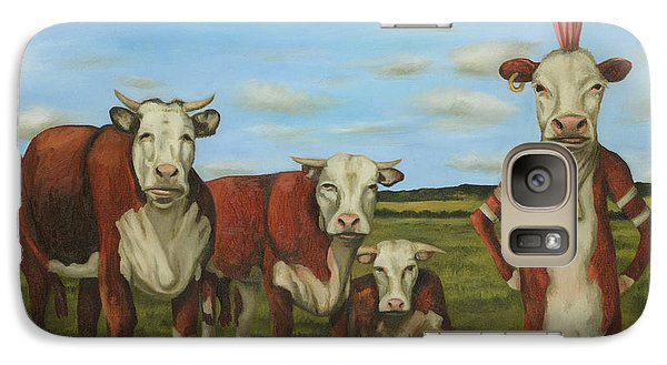 Galaxy Case featuring the painting Against The Herd by Leah Saulnier The Painting Maniac