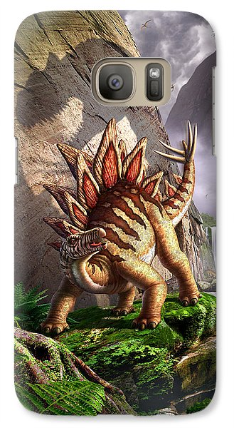 Dinosaur Galaxy S7 Case - Against The Wall by Jerry LoFaro