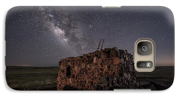 Galaxy Case featuring the photograph Agate House At Night by Melany Sarafis