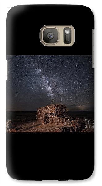 Galaxy Case featuring the photograph Agate House At Night2 by Melany Sarafis