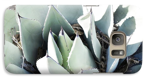 Galaxy Case featuring the photograph Agave Plant Leaves by Andrea Hazel Ihlefeld