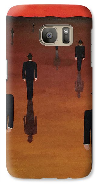 Galaxy Case featuring the painting Agents Orange by Thomas Blood