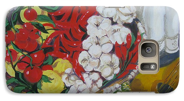 Galaxy Case featuring the painting Aglio  by Julie Todd-Cundiff