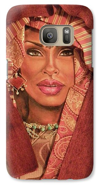 Galaxy Case featuring the painting Aglow by Alga Washington