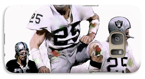 Galaxy Case featuring the painting Agony Of Greatness, Vii  Fred Biletnikoff  by Iconic Images Art Gallery David Pucciarelli