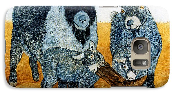 Galaxy Case featuring the painting Agoudi Family by Jan Amiss