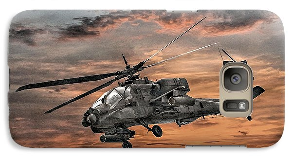 Helicopter Galaxy S7 Case - Ah-64 Apache Attack Helicopter by Randy Steele
