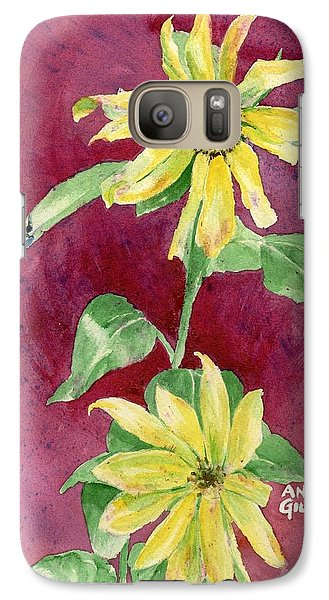 Galaxy Case featuring the painting Ah Sunflowers by Andrew Gillette