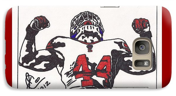 Galaxy Case featuring the drawing Ahmad Bradshaw by Jeremiah Colley