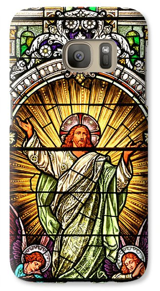 Galaxy Case featuring the photograph Stained Glass Scene 10 Crop by Adam Jewell